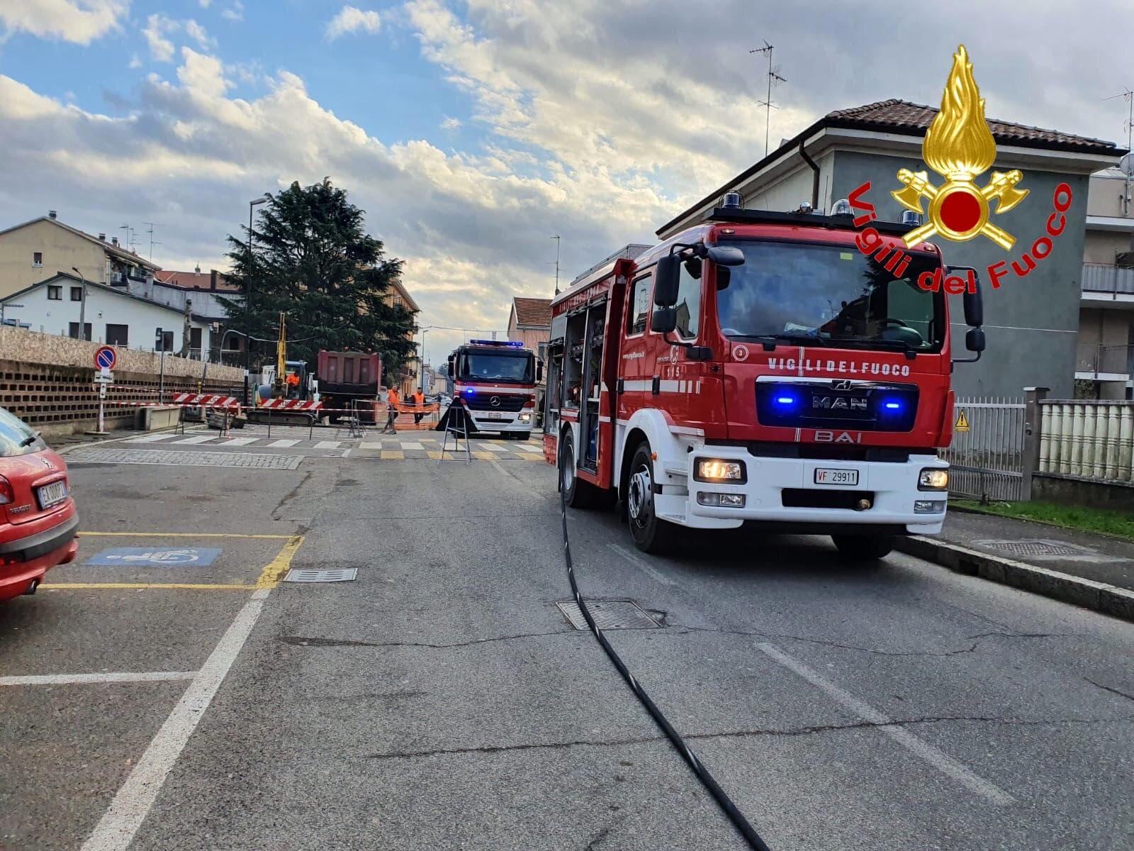 vigili del fuoco strada lavori-2