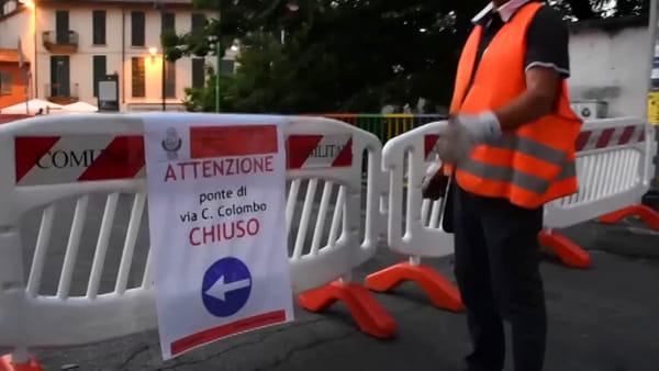 Ferri marci e cemento sgretolato: ecco il ponte sul Lambro chiuso a Monza