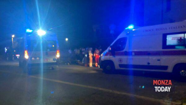L'incidente (Foto Bennati/MonzaToday)