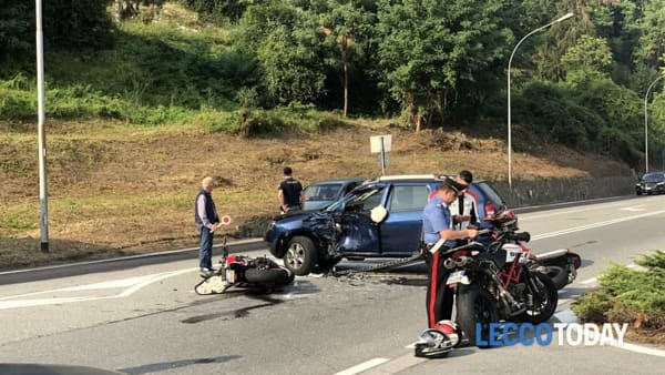 L'incidente (Foto LeccoToday)