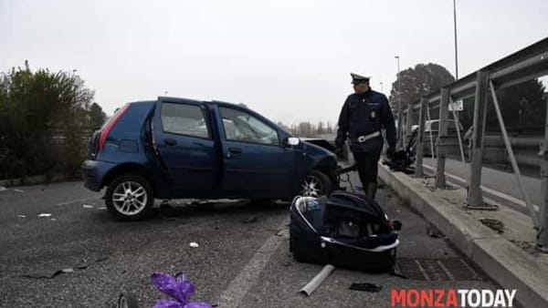 L'incidente (Foto Bennati/MonzaToday)