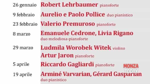 I concerti a Monza 2020 - 26 gennaio