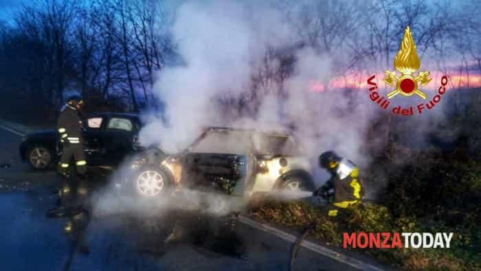 Incidente camion auto a Inzago (1)